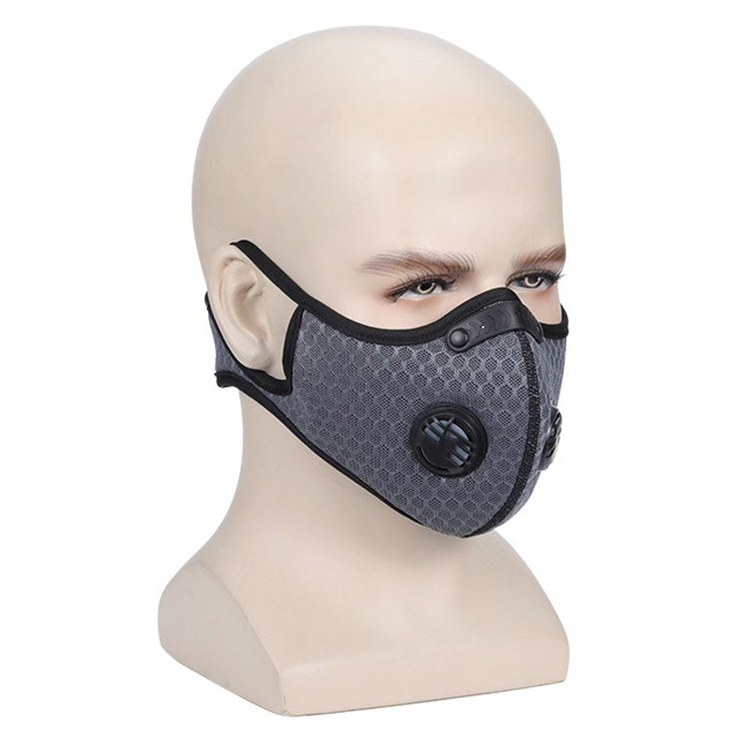 PM2.5 Dust Mask Activated Carbon Black Kn95 Breathable Valve Foldable Resizable Filter Outdoor Cycling Running Protective Mask