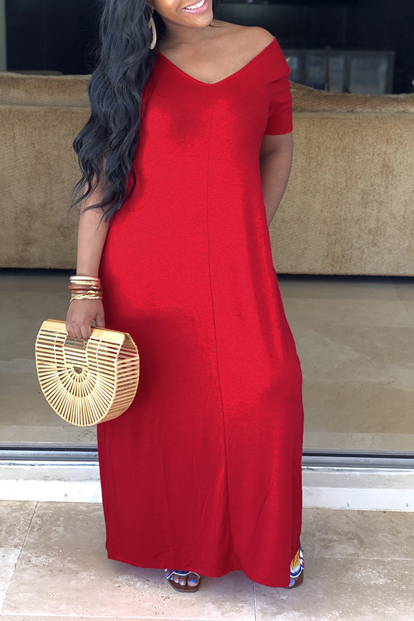 Solid Color Comfortable Dress