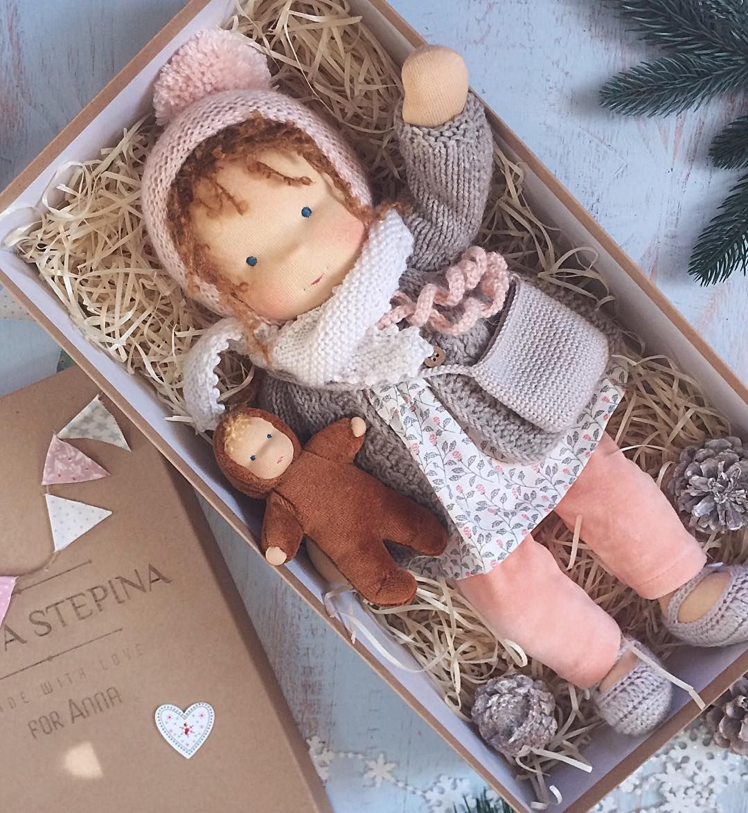 Liberty Dress For Waldorf Doll - Doll Clothing #11