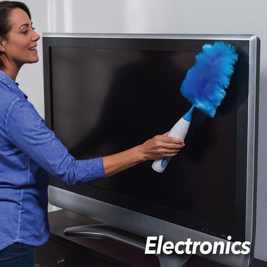 Electric Feather Duster Adjustable Bookshelf Window Cleaning Brush As Household Clean Helper Automatic Dust Brush Duster