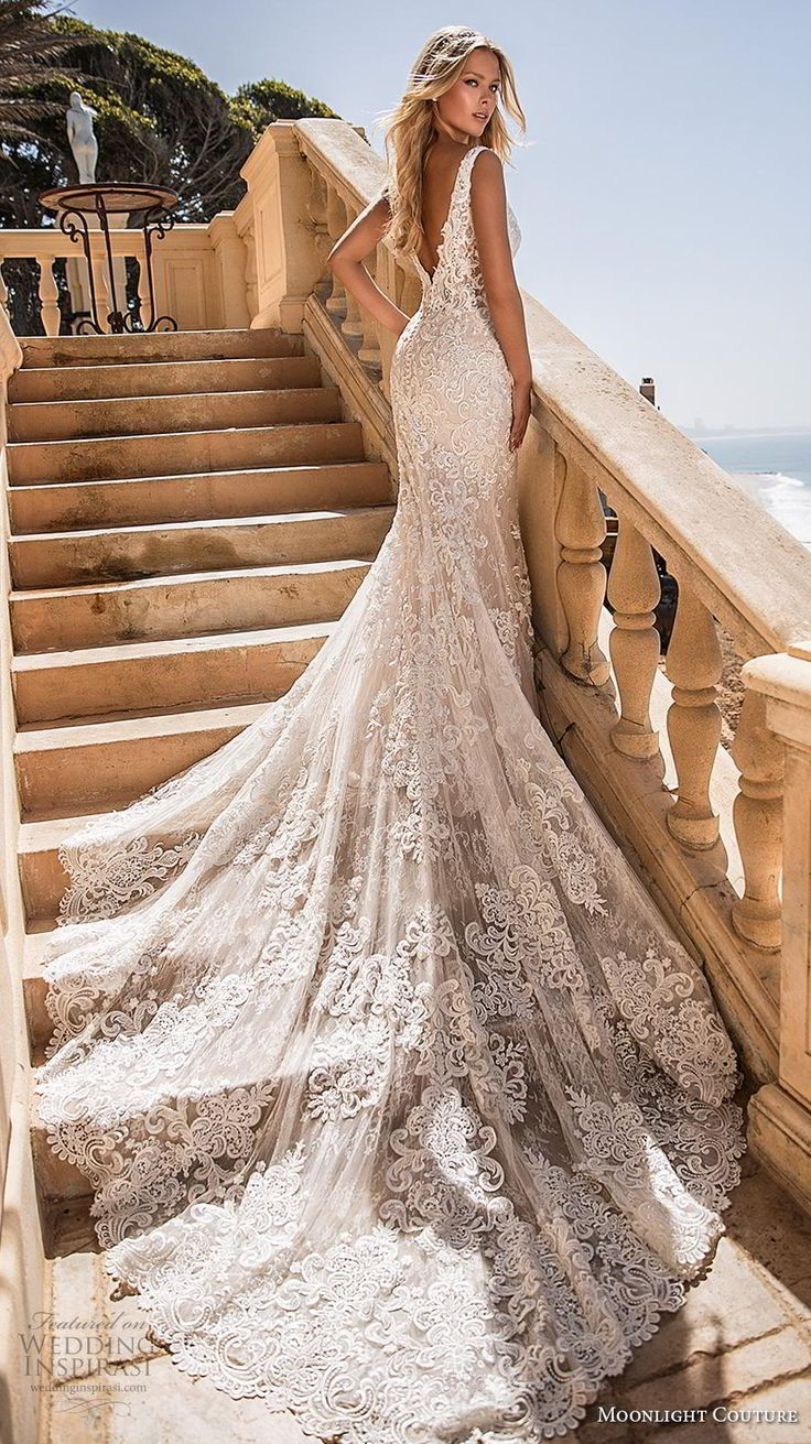 2020 New Wedding Dress Fashion Dress mermaid wedding dress with sleeves his and hers formal outfits