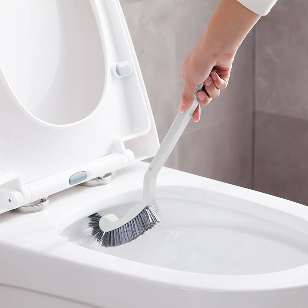 TPR silicone brush head toilet brush no dead corner brush household wall-mounted cleaning