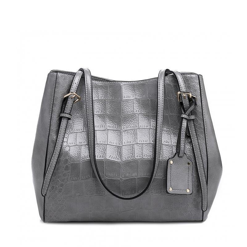 European Fashion High Street Crocodile Handbag