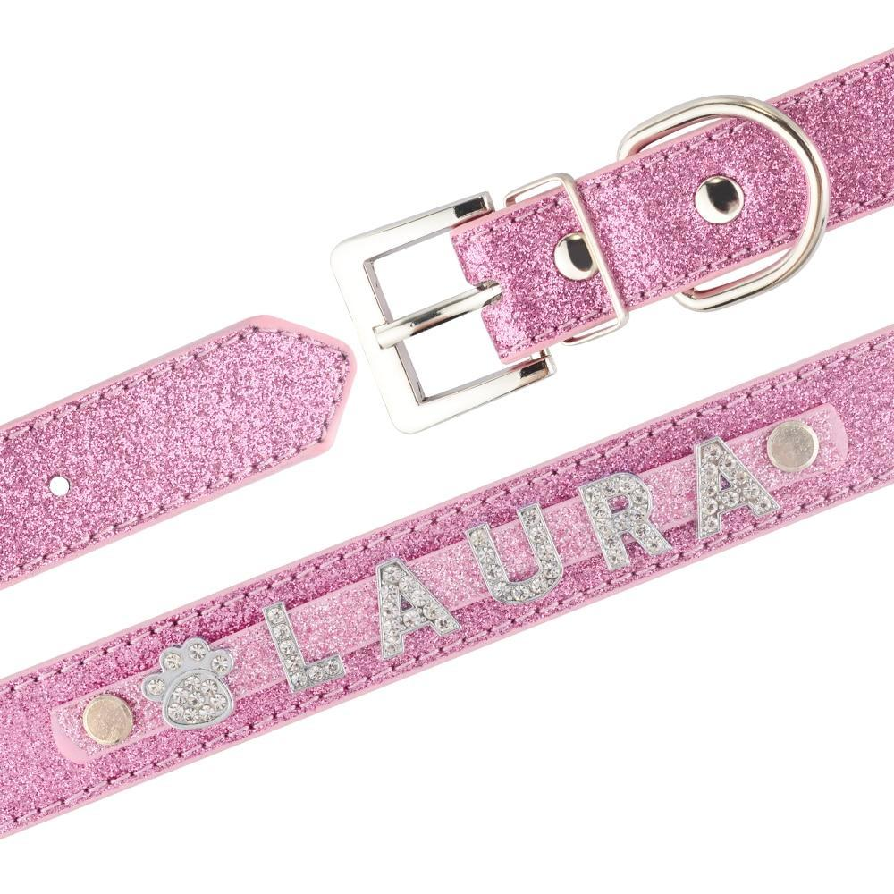 Personalized Crystal Dog Collar