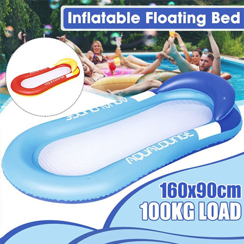 100KG Load Adult Water Inflatable Floating Bed Shed Sunshade | Water Floating Hammock