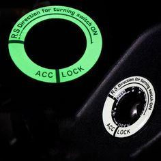 Luminous Car Ignition Switch Alloy Cover Car Accessories Stickers