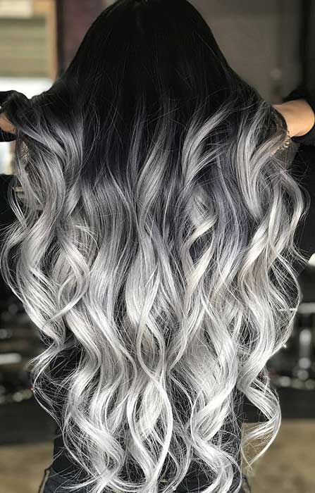 2020 New Gray Hair Wigs For African American Women The Invisible Wig Grey Hair Stress Reversal Grey Wig Purple Gray Hair Color 8 Inch Curly Wig