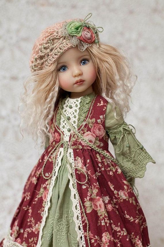 👧👧Little Darling Dianna Effner Doll with dress💝Lolita Style#10