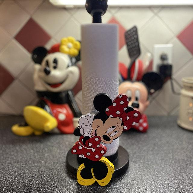 Minnie and Mickey Mouse Kitchen Paper Towel Toilet Paper Holders