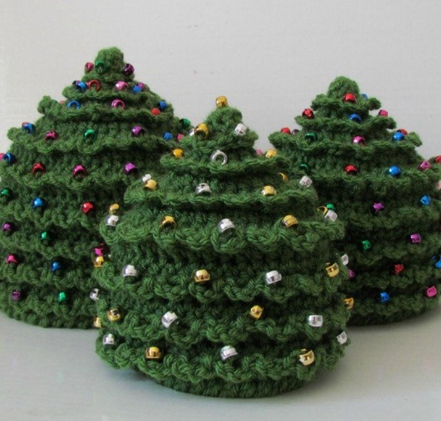 Christmas CROCHET PATTERN HAT Christmas Tree : In 5 Sizes Newborn To Teen/Adult Beaded