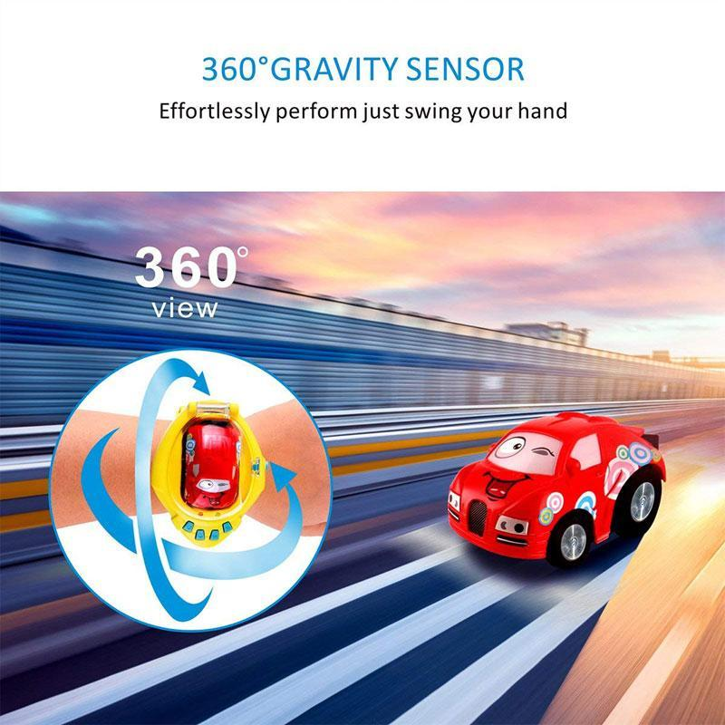 Mini Gravity Sensing RC Car with Remote Control Watch for Kids