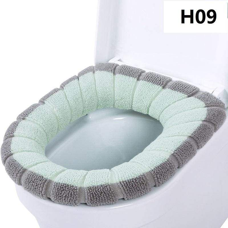 Warm Soft Washable Velvet Coral Toilet Seat Cover Soft Warmer Mat Cover Pad Cushion Mat Seat Case Toilet Lid Cover
