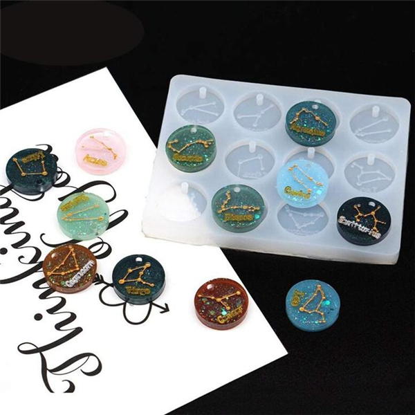 New Release - 12 Zodiac Constellation Resin Molds
