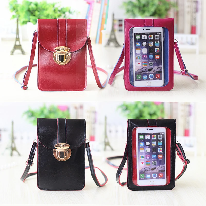 Touchable PU Leather Phone Bag (suitable for any phone)