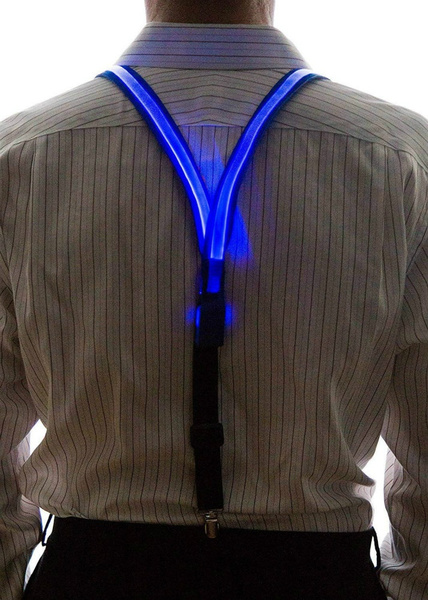 Good Quality Light Up LED Suspenders Bow Tie