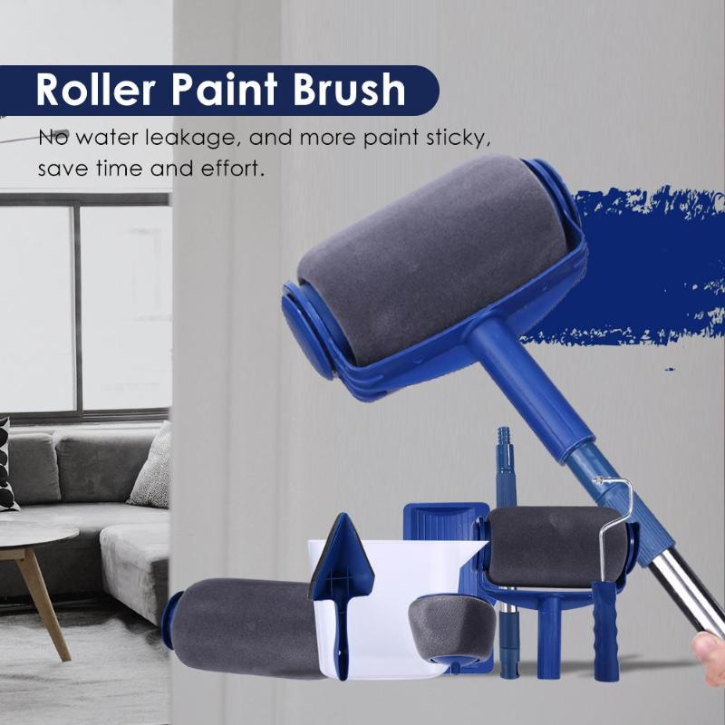 👍【Multifunctional Roller Paint Brush/Pink】 - Simple To Use Even Your Kids Can Help You
