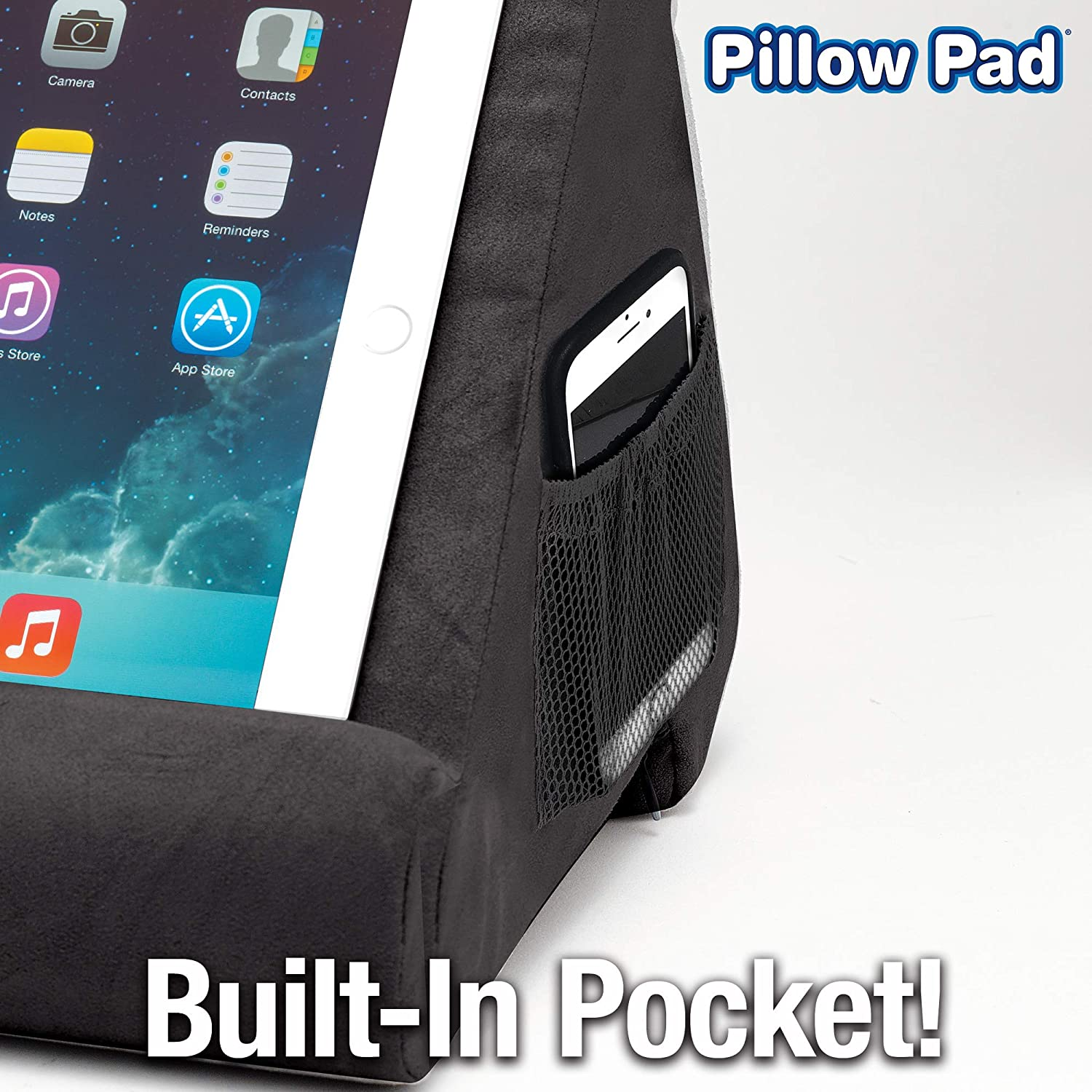 Black Friday Sale - Pillow Pad Multi-Angle Soft Tablet Stand - Burgundy
