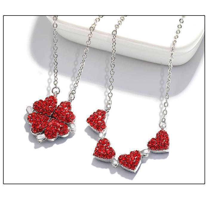 (Winter Promotion- 50% OFF) Women's Favorite Clover Heart Necklace- Buy 1 Get 1 Free