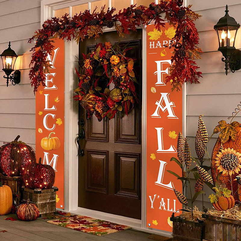 Christmas Sale! Porch Banner Decoration   Welcome Fall