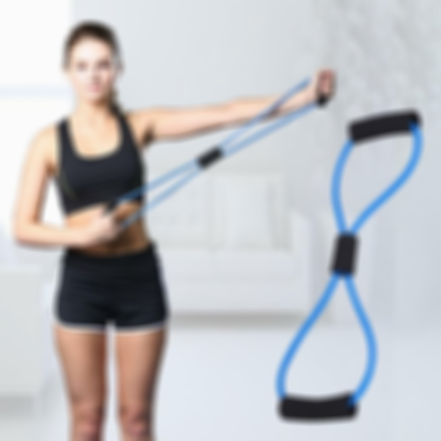 Arosetop Resistance Band Stretch Pull Rope Tube Rubber Muscle Training