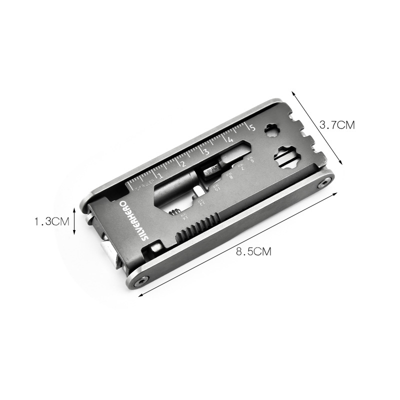 Folding Stainless Steel 15 in 1 Multi-Function Tool-Buy 2 Free Shipping