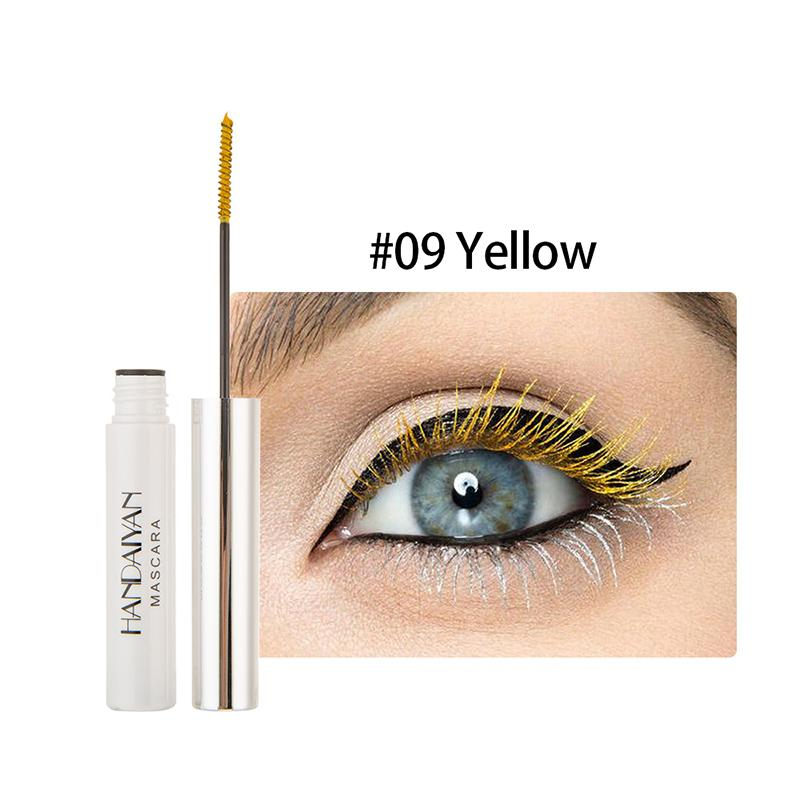 HANDAIYAN Color Mascara Thick Roll Long Don't Dizzy Little Brush Head