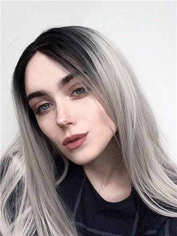 2020 New Gray Hair Wigs For African American Women Honey Blonde Wig Silver Hair Women Best Way To Cover Gray Roots Light Gray Hair Remy Hair Wigs