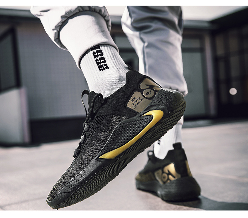 2020 new fashion flying woven breathable socks casual sports shoes old basketball shoes(The second pair only sells for AED 160)
