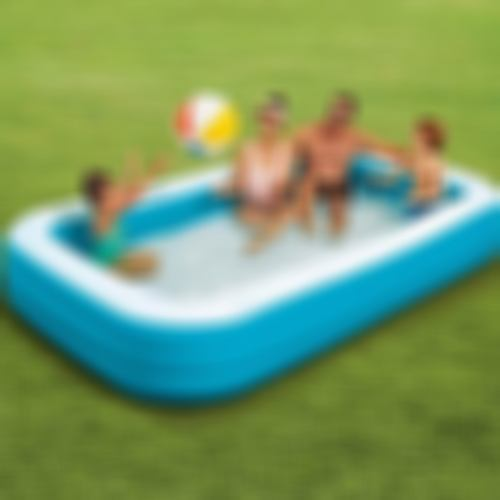 Portable 3/4-layer Rectangular Inflatable Swimming Pool   Free Shipping