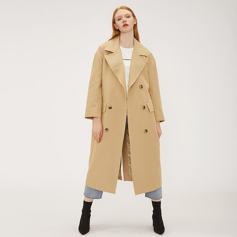 high quality vintage cool girl casual masculine style double breasted  women trench coat-Casual Windbreaker 2.11