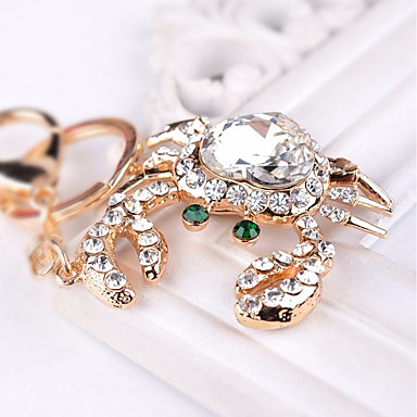 Keychain Heart Diamond / Rhinestone Decorated Case Fashion Imitation Diamond Ring Jewelry White For Gift Daily