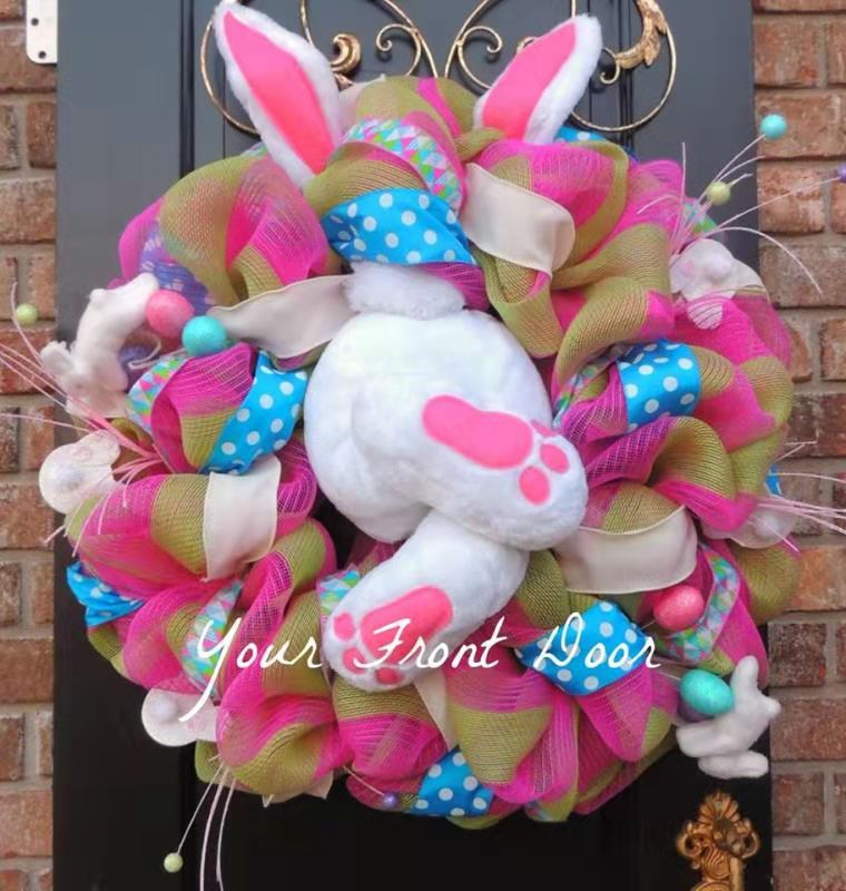 EASTER LUMINOUS BUNNY WREATH