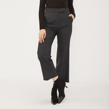 fall clothing casual long high waist straight cut office lady style work black  pant women trousers-carrot trousers 2.11
