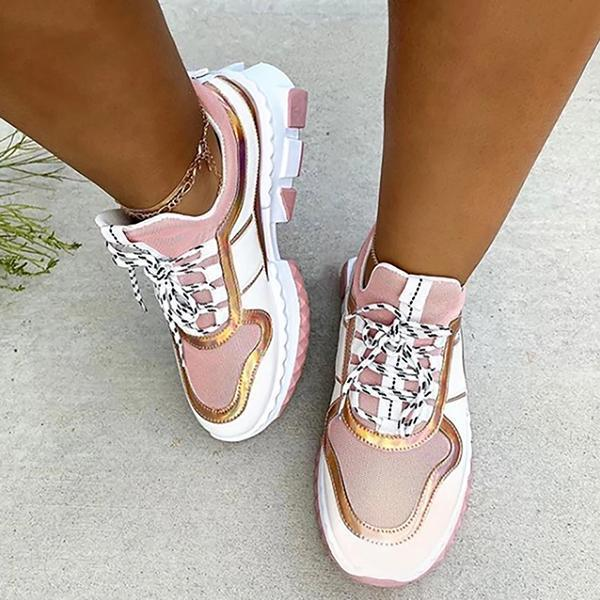 Lemmikshoes Thick Soles Fashionable Women's Casual Sneakers