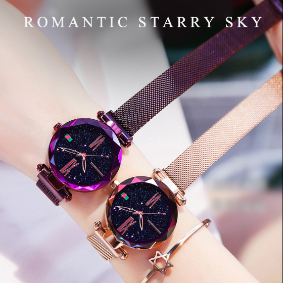 Luxury Crystal Bejewelled Starry Watch