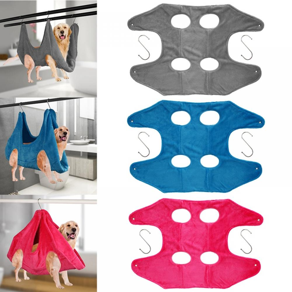 Soft Convenient Dogs Cats Hammock for Nail Trimming Beauty Assistant Grooming Thicken