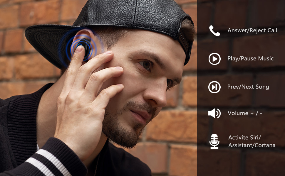 The most advanced waterproof technology--The Strongest Touch Control Wireless Earbuds