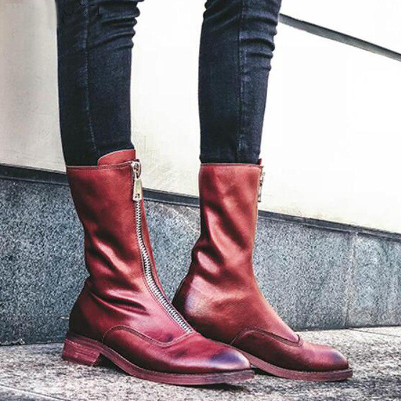 Women's Vintage Leather Mid-Calf Boots