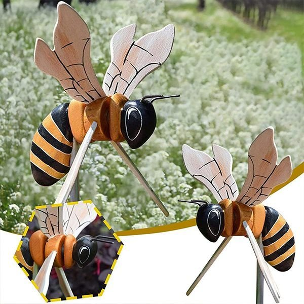 [🔥On Sale-45%OFF🔥]Miss Bee Garden Art Decor Whirligigs Wind Spinners - Buy 2 or More Get Extra 10%Off & Free Shipping