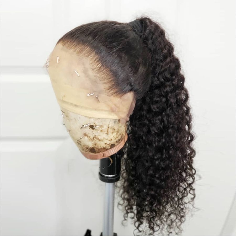 Lace Front Wigs Black Curly Hair Virgin Remy Hair Wholesale Grey Bundles With Closure Large Curls