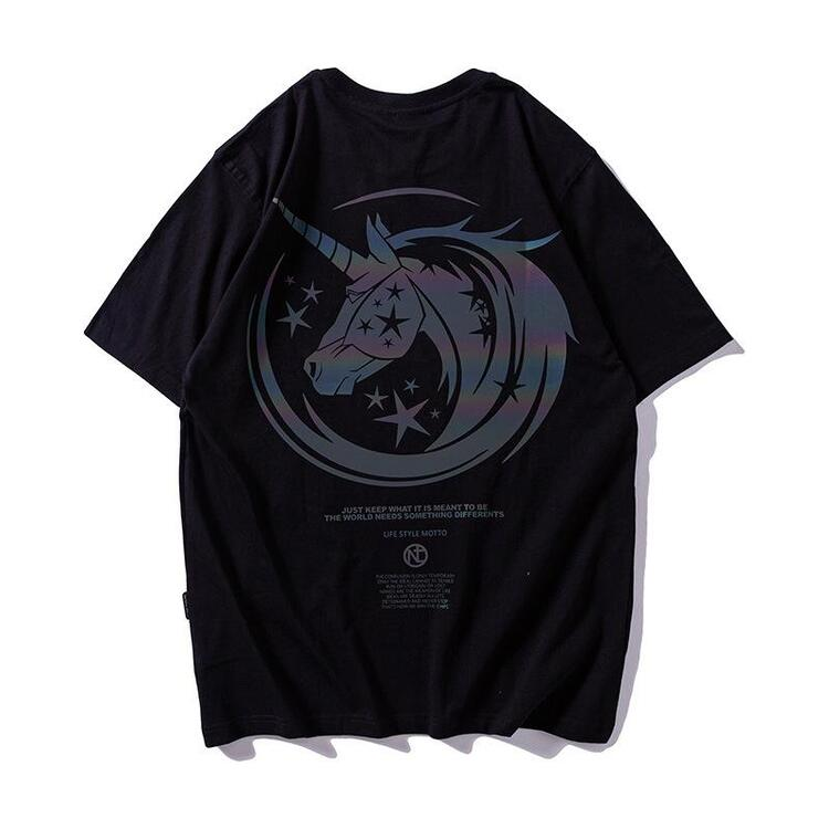 Reflective unicorn T-shirt