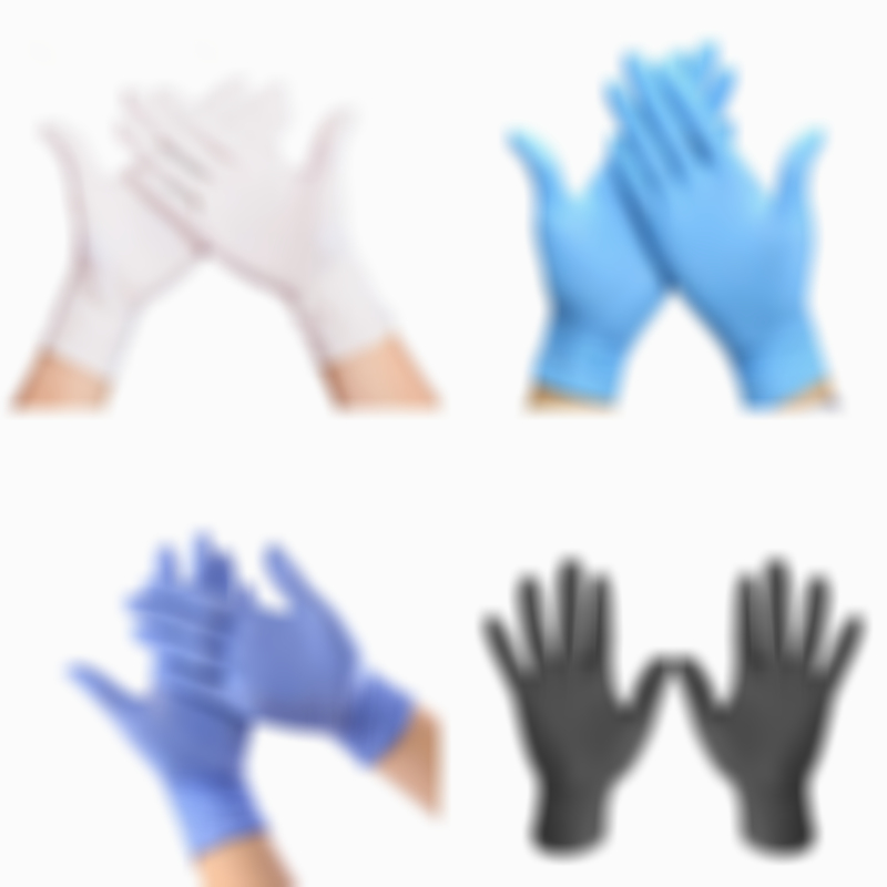 Vooknu Disposable Nitrile Gloves 100pcs/Pack Rubber Power Free