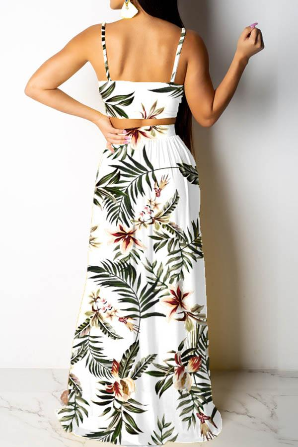 Sexy Floral Sling Two Piece Set