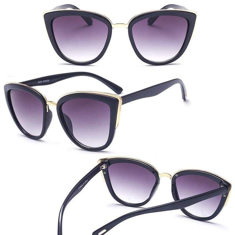 Retro Cat Eye Sunglasses Female Luxury Brand Sunglasses for Women UV400 Gradient Sunglasses