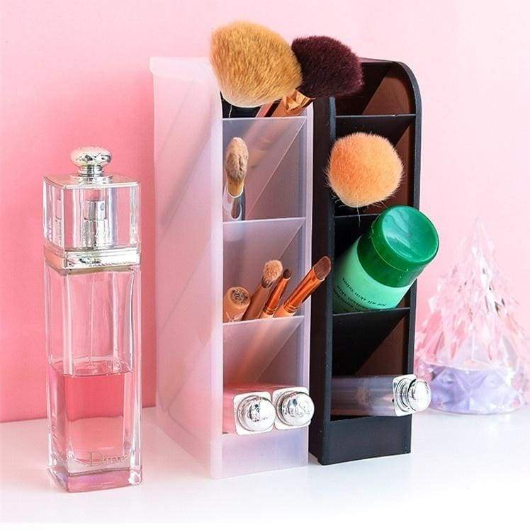 Multi-cell oblique plug-in pen holder ins Nordic personality simple transparent pen holder student desktop storage rack plastic