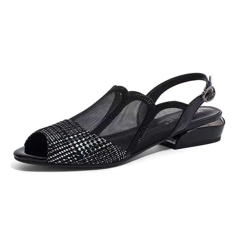Fashion mesh hollow women's shoes