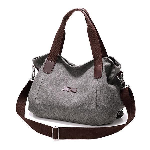 Women Canvas Large Capacity Shoulder Bags Handbags Casual Crossbody Bags For Travel
