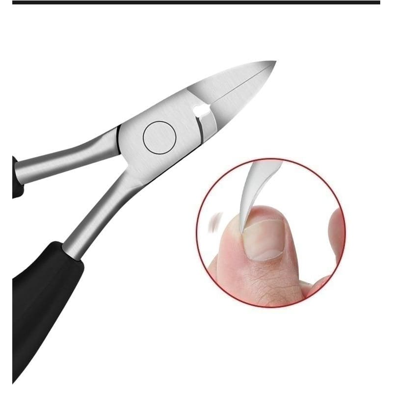 2019 New Rubber Handle Spring Stainless Steel Nail Art Cuticle Care Cutter Nippers Clipper Manicure Salon Tool
