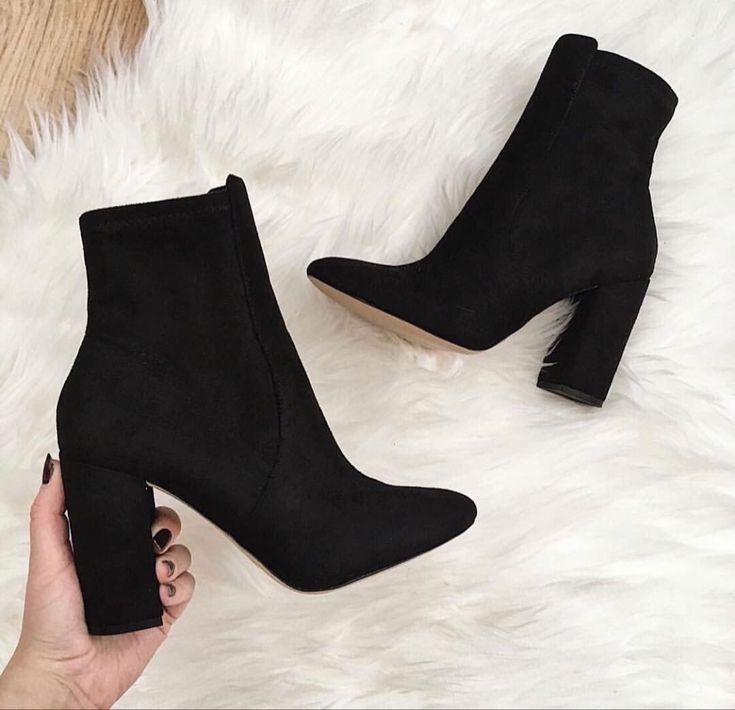 Fashion Women High Heels Ladies Footwear Heeled Biker Boots 9 Inch Heels Womens Walking Shoes Sale Black Pumps