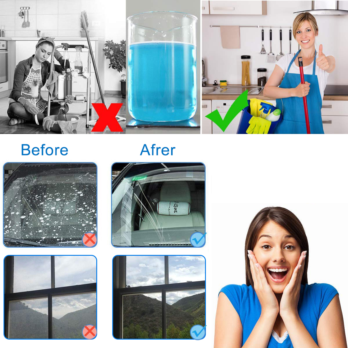 【⭐LAST DAY 50% OFF⭐】Automobile Glass Cleaning Sheet